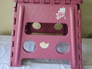 Pink Collapsible Stepping Stool