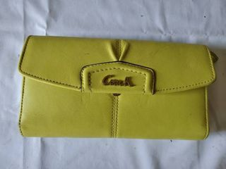Authenic Canarry Yellow Coach Wallet