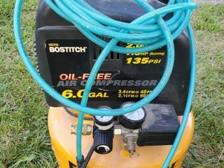 Stanley Bostitch 6 Gal Air Compressor  Tested and Working