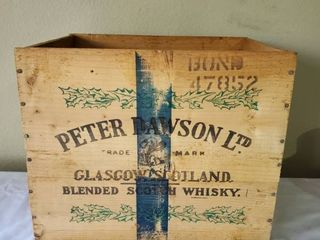 Peter Dawson Wooden Whiskey Box
