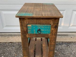 Rustic Farmhouse End Table Night Stand