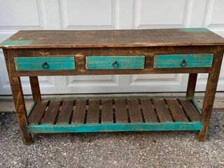 Rustic Farmhouse Sofa Table