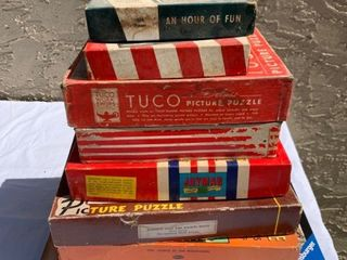 lot of Vintage Puzzles   Various Brands
