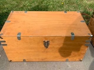 Wooden Boy Scout Chest