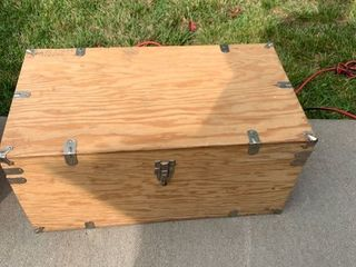 Wooden Boy Scout Trunk