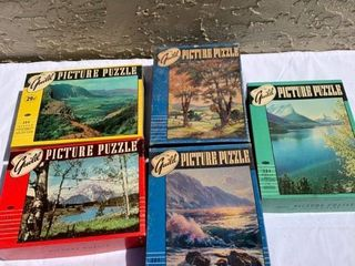 lot of 5 Guild Picture Puzzles