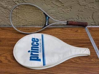 Prince Blue Tennis Racket with Black Rubber Handle