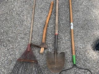 lot of 4 Garden Tools