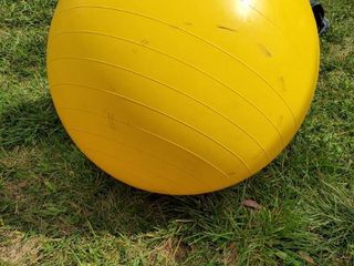large Yellow Exercising Ball