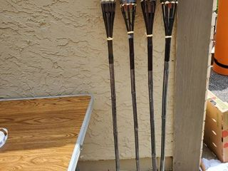lot of 4 Tiki Torches
