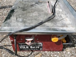 Wet Table Tile Cutting Saw  Tested and Working