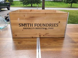 Smith Foundruea Wooden Crate