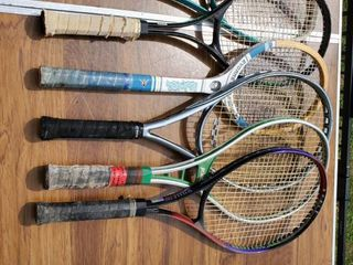 lot of 5 Name Brand Tennis Rackets