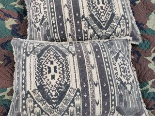 lot of 2Blue and White Rustic Pillows