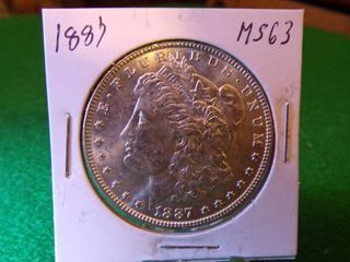 1887 MORGAN DOllAR MS63