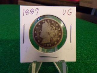 1889  V  NICKEl  VG