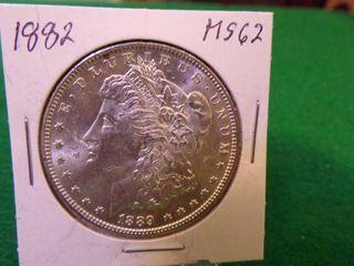 1882 Morgan Silver Dollar MS62
