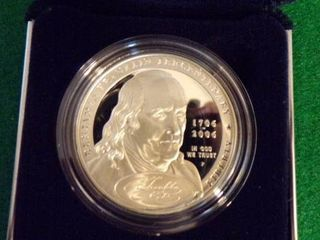 2006 BEN FRANKlIN FOUNDING FATHER PROOF SIlVER DOllAR
