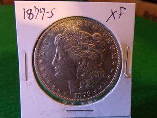 1879 S Morgan Silver Dollar XF