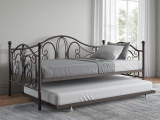 Avenue Greene Bradley Metal Daybed and Trundle  Retail 289 99 twin bronze