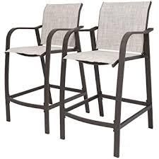 Crestlive Products Outdoor Counter Height Bar Stools 2 PCS Set   21 7 W x 25 6 D x 43 7 H  Retail 158 99 beige