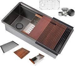 36 Inch Stainless Steel Workstation Single Bowl Kitchen Sink  Retail 305 49