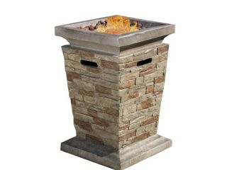 laguna Outdoor Fire Column by Christopher Knight Home  Retail 314 99
