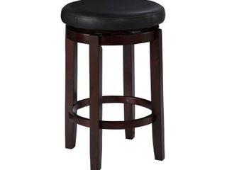 linon Dorothy Backless Bar Stool Black Swivel Seat