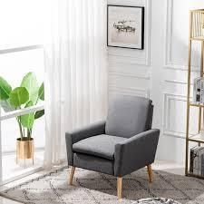 Carson Carrington lunedet accent chair black grey fabric
