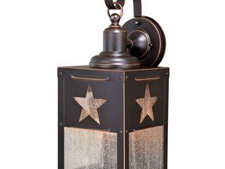 Ranger 1 light Bronze Rustic Texas Star Outdoor Wall lantern   8 in W x 21 in H x 9 in D  Retail 106 00