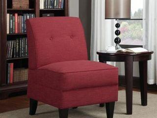 Handy living Engle Sunset Red linen Armless Chair  Retail 186 49