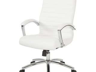 Executive Mid Back Faux leather Chair  Retail 192 66