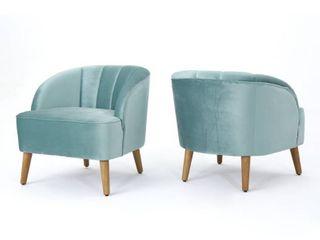 Amaia Modern Velvet Club Chair 1 only seafoam blue