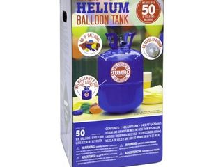 Helium Tank Kit for Birthday Party   Includes 50 Balloons   Ribbon