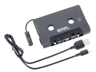 onn  Car Cassette Adapter with Bluetooth Wireless Technology