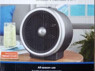 Mainstays 2 in 1 Portable Heater Fan  900 1500W  Indoor  Black