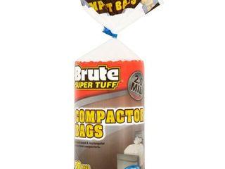 Brute Super TuffAr Compactor Bags  20 Gallon  20 Bags  Twist Tie