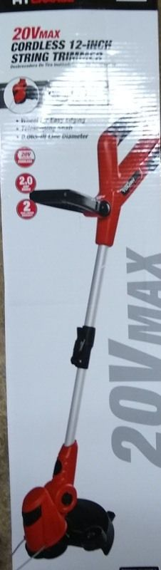 Hyper Tough 20V MAX Cordless 12 Inch String Trimmer  HT19 401 003 06