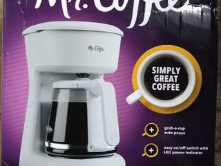 Mr  Coffee 12 Cup Coffee Maker with Easy on off lED Switch  White