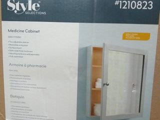 Styles Selections Gray Finish Medicine Cabinet
