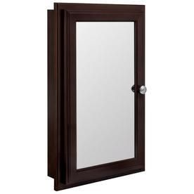 Style Selections 15 75 in x 25 75 in Recessed Particleboard Medicine Cabinet