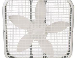 lasko 20in Box 3 Speed Fan  White