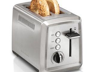 Hamilton Beach 2 Slice Extra Wide Slot Toaster Chrome Model  22794
