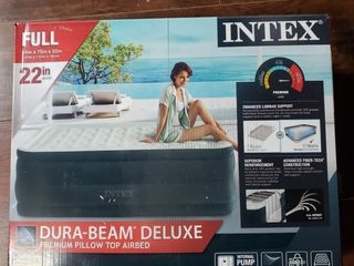 Intex 22in Full Dura Beam Dream lux Pillowtop Airbed Mattress with Internal Pump