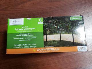 Mainstays 5 lumen Solar lED landscape Pathway Downlight  6 Pack