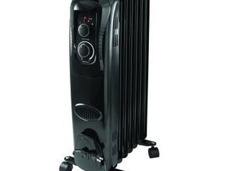 Mainstays  Oil Filled  Electric Radiant Space Heater  Black