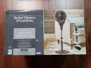 Better Homes   Gardens 9 in Adjustable Pedestal Fan  Black