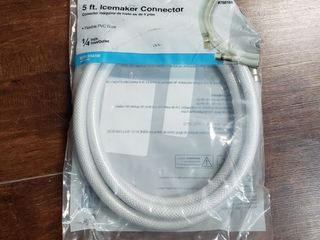 5 Ft  Icemaker Connector Flexible Pvc Hose 1 4 In  Inlet outlet