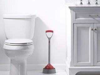 liquid Plumber Deluxe Toilet Plunger   Caddy Keeps Floors Dry   Clean