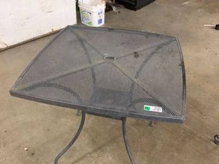 Small wrought iron patio table